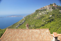 The hillside town of Eze, French Riviera, France Royalty Free Stock Photography