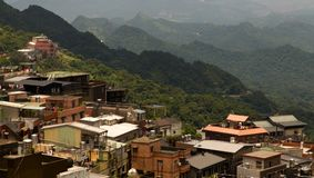 Hillside township of Jiufen, New Taipei City Royalty Free Stock Photo