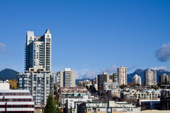 Hillside urban development in Vancouver Canada Royalty Free Stock Photos