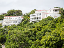 Hillside Vacation Homes in Tropics Royalty Free Stock Image