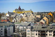 Hillside View, Alesund, Norway Royalty Free Stock Images