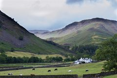 Hillside view in the English Lake District royalty free stock photos