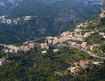 Hillside Village, Amalfi Coast, Italy Royalty Free Stock Photography