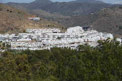 Hillside village in Andalusia Royalty Free Stock Images