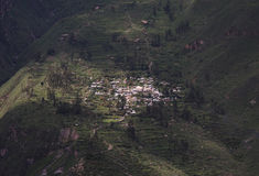Hillside village in the Colca Canyon in Peru Stock Photo