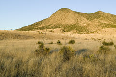 Hillsides at sunset in central New Mexico, Route 48 near Smokey Bear Historical Park Royalty Free Stock Photos