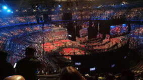 Hillsong konferens 2017 på Sydney Olympic Stadium Royaltyfria Bilder