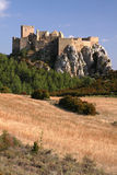 Hilltop castle. The hilltop castle of Loarre in northern Spain Royalty Free Stock Photography
