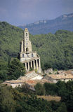 Hilltop Church. A hilltop church in a tiny village in the mountains of Southern France Royalty Free Stock Photography