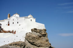 Hilltop Church In Skopelos Stock Images
