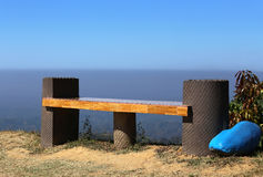 Hilltop empty seat. In Bandarban, Bangladesh stock photo