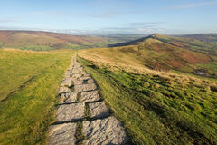 Hilltop Footpath in the Peak District, England Stock Photography