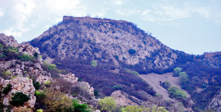 Hilltop fort Royalty Free Stock Images