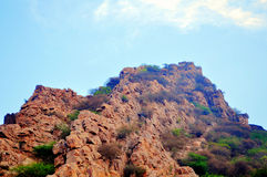 Hilltop fort Royalty Free Stock Photography