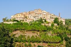 Hilltop Hamlet - Castelmuzio. Castelmuzio, one of the many medieval hilltop hamlets in Tuscany, Italy Royalty Free Stock Image