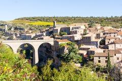 Hilltop historic village Minerve,  France Stock Image
