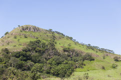 Hilltop Landscape. Hilltop hiking mountain rural summer landscape Royalty Free Stock Photo