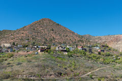 Hilltop mining town. Old mining town perched on a hilltop, Jerome, Arizona stock photos