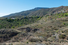 Hilltop mining town. Old mining town perched on a hilltop, Jerome, Arizona royalty free stock photography