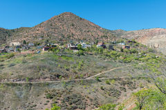 Hilltop mining town. Old mining town perched on a hilltop, Jerome, Arizona royalty free stock image