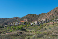 Hilltop mining town. Old mining town perched on a hilltop, Jerome, Arizona stock photography