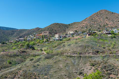 Hilltop mining town. Old mining town perched on a hilltop, Jerome, Arizona royalty free stock photos