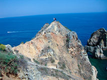 Hilltop of Portugal. Hilltop at the Algarve Coast in Portugal Stock Photos