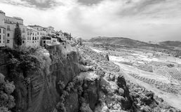 Hilltop Town of Ronda in Infrared Royalty Free Stock Photography