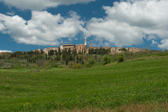 Hilltop town, Tuscany Stock Photo