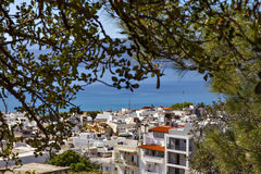 Hilltop view of Agios Nikolaos Royalty Free Stock Photography
