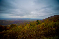 Hilltop view of fall foliage Royalty Free Stock Photos
