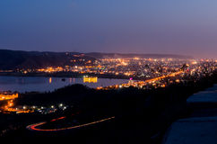 Hilltop view Jaipur by night. Long exposure of jaipur city taken from the hilltop nargarh fort Royalty Free Stock Image