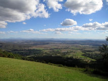 A hilltop view. Looking across the valley stock photography