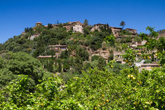 Hilltop village of Deia Stock Photo