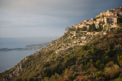 Hilltop village of Eze, France. The ancient stone hilltop village of Eze, France near Nice Royalty Free Stock Photos