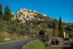 Hilltop village of Gorde Stock Images
