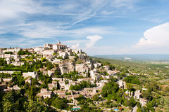 Hilltop village Gordes. Landscape with hilltop village Gordes in the French Provence Royalty Free Stock Photography