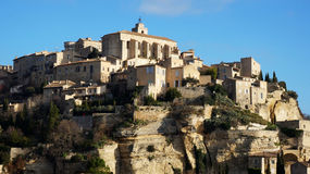 Hilltop village Gordes in the French Provence Stock Image