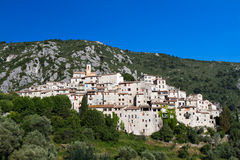Hilltop village of Peillon Stock Images