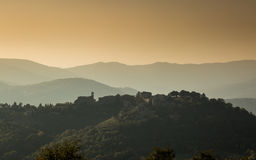 Hilltop village of Preggio in the hills of Umbria Royalty Free Stock Photos