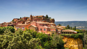 Hilltop village of Roussilon. Provence, France Royalty Free Stock Images