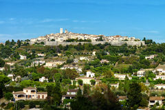Hilltop Village of Saint Paul de Vence. A fortified city in the French Riviera Royalty Free Stock Photo