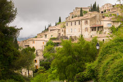 Hilltop village Southern France Royalty Free Stock Image