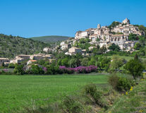 Hilltop village Southern France Stock Photos
