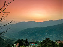 The hilltops of beautiful city of Gangtok Stock Photo