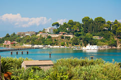 The hilltops of Kanoni on Corfu island, Greece. Royalty Free Stock Photo