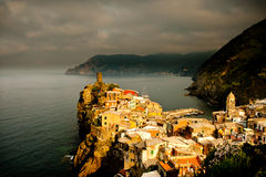 Hilltown Village of Vernazza Stock Photos