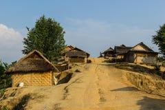 Hilltribe村庄 图库摄影