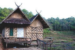 hilltribe泰国村庄 免版税库存照片