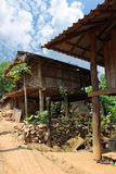 Hilltribe homes, Chiang Mai Stock Photo